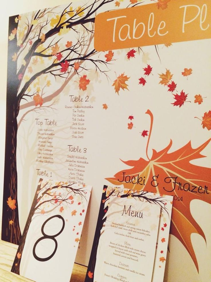 Autumnal table plan http://www.toptableplanner.com/blog/autumn-themed-wedding-seating-plans