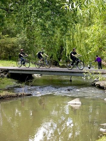 Merri Creek path cycling