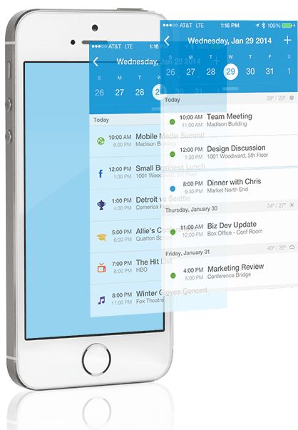 UpTo - Calendar Redefined: Discover, Share, Embed   Android & iPhone App google calendar on steroids