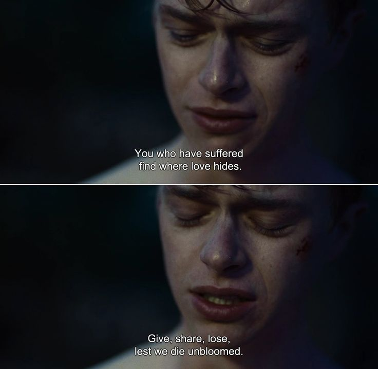 ― Kill Your Darlings (2013)Allen: You who have suffered find where love hides. Give, share, lose, lest we die unbloomed.
