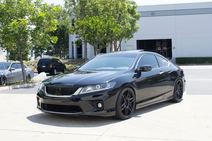 """So, I upgraded my '08 Accord Coupe and traded it in for a 2013 Accord Coupe. I Plastidipped the front and back Honda logos, took off the """"Accord"""" and """"V6"""" rear badges, and, one of these days, I want my car to look like THIS one!"""