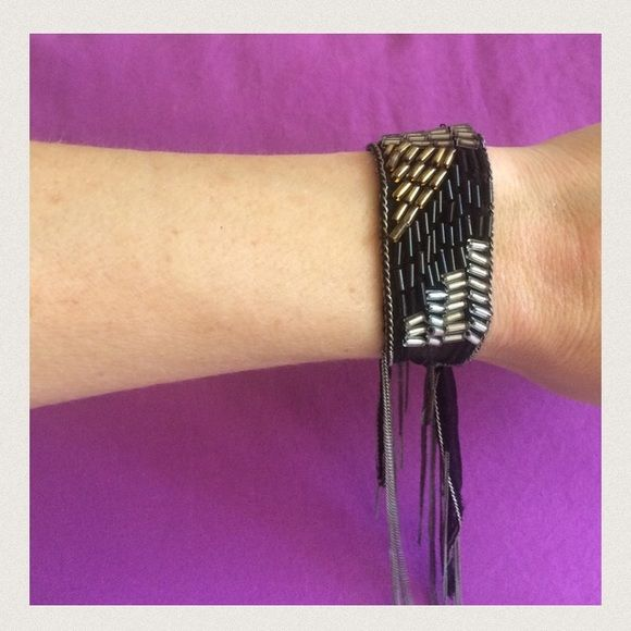 Chan Luu Tie-On Fringe Bracelet This is a gorgeous piece by designer Chan Luu. Soft and edgy together in one! See pic 4 for more on Chan Luu's designs. Bundle for discounts!! Thank you for shopping my closet! Chan Luu Jewelry Bracelets