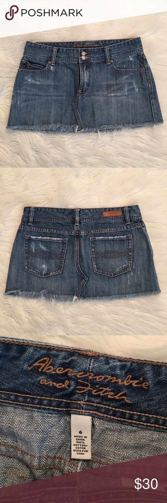 Abercrombie and Fitch Denim Skirt $3.99 shipping! Abercrombie and Fitch Denim Skirt. Size 6 it's in great condition! It look like BRAND NEW! ❌ NO TRADES ❌ Abercrombie & Fitch Skirts