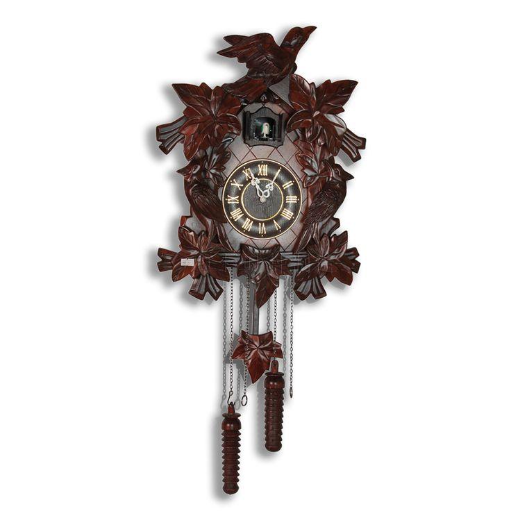 Кукушка часы модно гостиная настенные часы, натурального дерева скульптуры Сельский сладкий куранты