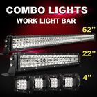 """52Inch LED Light Bar Combo  22inch 4"""" CREE OFFROAD SUV 4WD FORD JEEP Truck 50"""""""