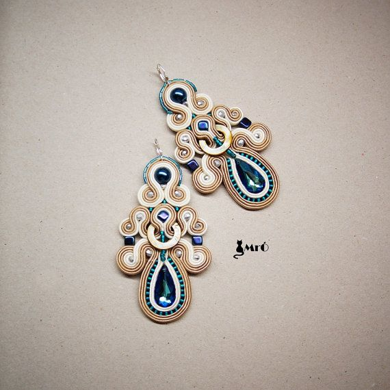 Louise+beautiful+soutache+earrings++by+MrOsOutache+on+Etsy,+$69.00