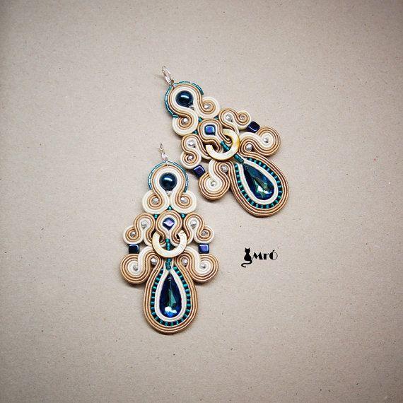 Louise+beautiful+soutache+earrings++by+MrOsOutache+on+Etsy,+$69.00
