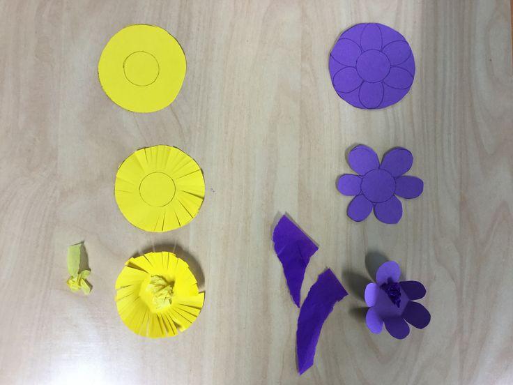 Leskenlehti ja sinivuokko: askarteluohje kukintoihin
