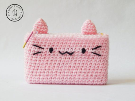 3DS Cozy  3DS Case  Kitty 3DS  Crochet Cozy  by BubblyTeaShop