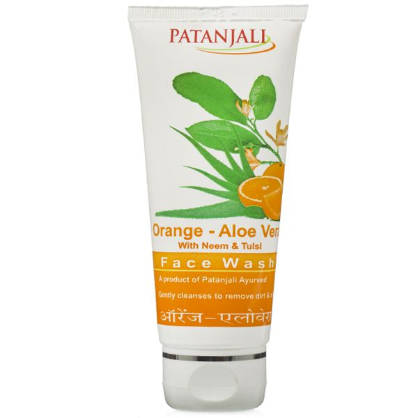 ORANGE ALOEVERA FACE WASH For natural beauty and bringing glow on the face. Price Rs.45