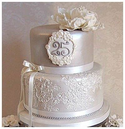 awesome An Eco-Friendly Option of Silver Wedding Anniversary Cakes