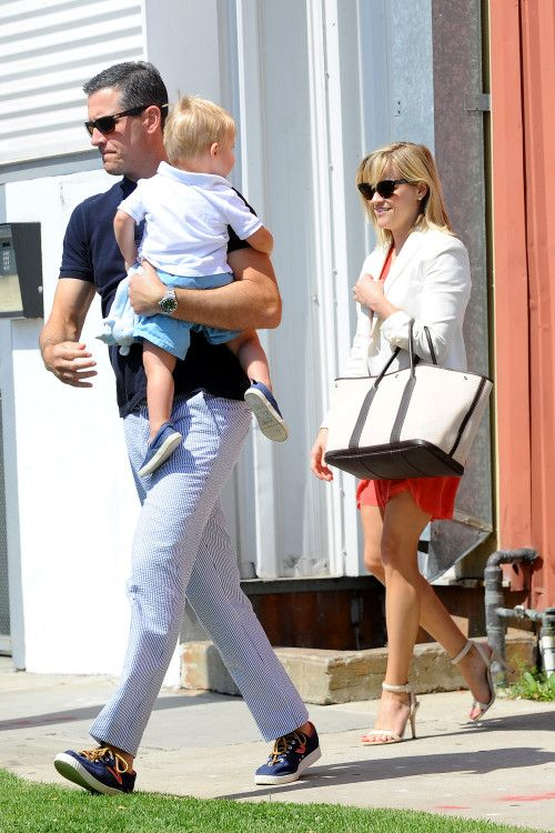 Reese Witherspoon & Family: Easter Sunday Mass