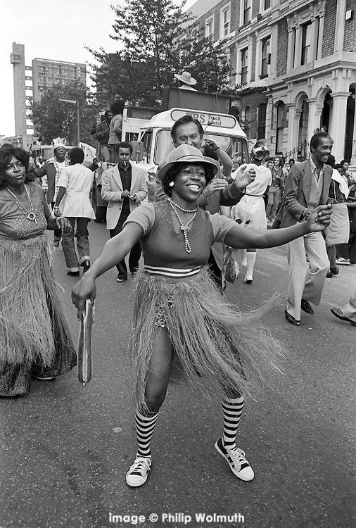 Notting Hill Carnival, London, 1979. and first took place in 1966.
