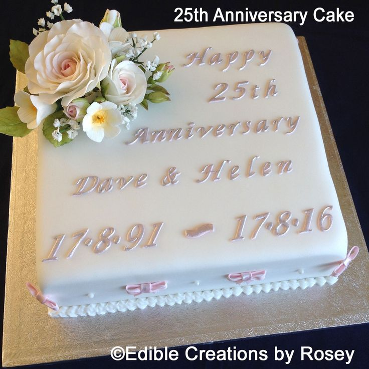 1000+ ideas about 25th Wedding Anniversary Cakes on ...