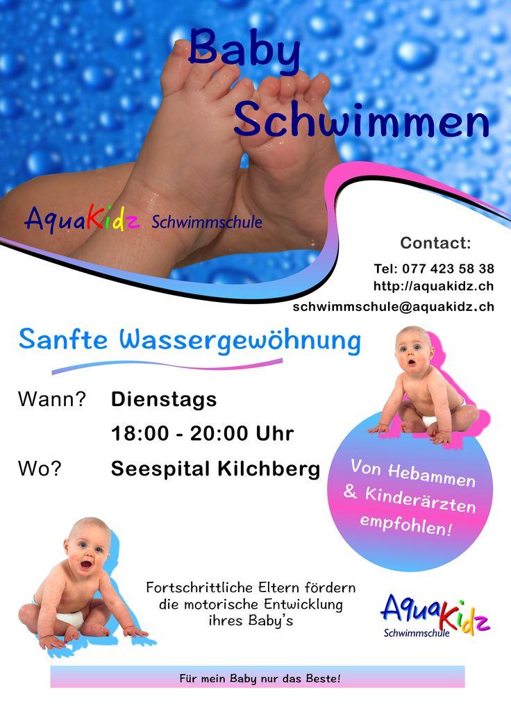 Babyschwimmen für alle berufstätigen Eltern am Abend in Kilchberg!