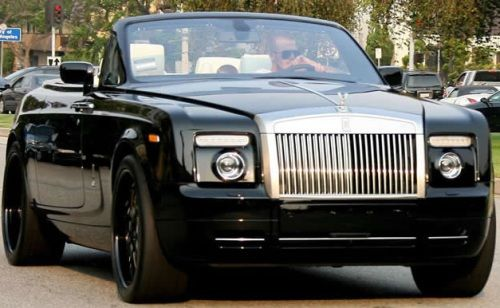 David Beckham Rolls Royce Phantom Drophead Coupe