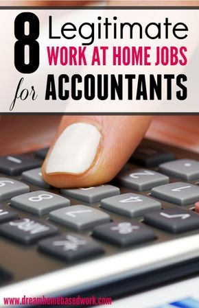 Looking for a work at home job as an accountant? Here are 8 Legitimate Online Jobs For Accountants and Bookkeepers