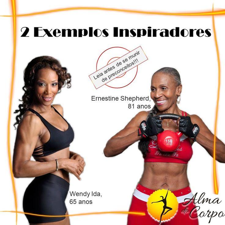 Exemplos inspiradores: 1) Wendy Ida, 65 anos. Começou a cuidar do corpo só aos 43 anos., após 12 anos de um casamento infeliz, onde sofreu violência doméstica. Afirma: nunca é tarde demais. 2) Ernestine Shepherd, 81 anos. Entrou para o Guinness Book como a fisiculturista mais velha do mundo. A rotina de alimentação, exercícios e musculação foi fazer parte da vida dela só aos 56 anos. #mudardevida #vidasaudável #mudançadehábito #fitness #boaforma #saúde #qualidadedevida #bemestar #almadocorpo