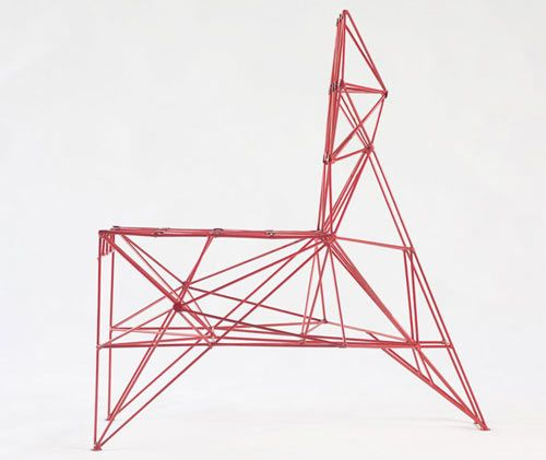 ARMADILLO AND LODGE CHAIRS BY BALTASAR PORTILLO. This chair I think is functional chair-sculpture. Made of wires. This is lounge chair, suitable for modern interiors.