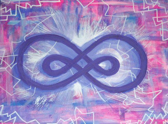 Double infinity Abstraktes Gemälde auf Leinwand von StrangeFields, €79.99