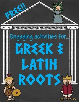 {{FREEBIE}}  Greek and Latin Root Word Activities.  Grade Levels: 3rd, 4th, 5th, 6th, 7th, 8th, 9th, 10th, 11th, 12th, Homeschool