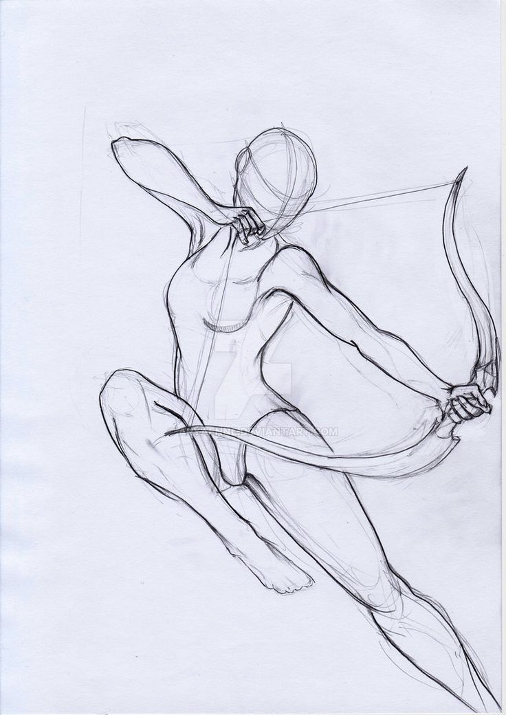 Pose Study Archer by aryaenne.deviantart.com on @DeviantArt