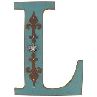Turquoise Rustic Wood Letter L Hobby Lobby Farmhouse Lettering Block Crafts Letters