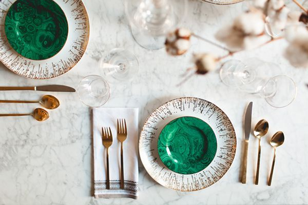 Malachite Monday {Malachite Plates SPLURGE OR STEAL}