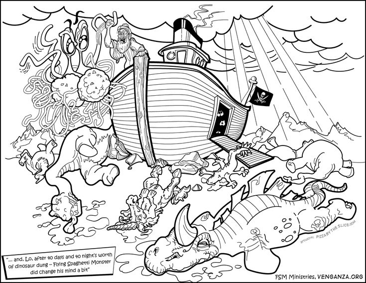 Flying Spaghetti Monster Coloring And Activity Book
