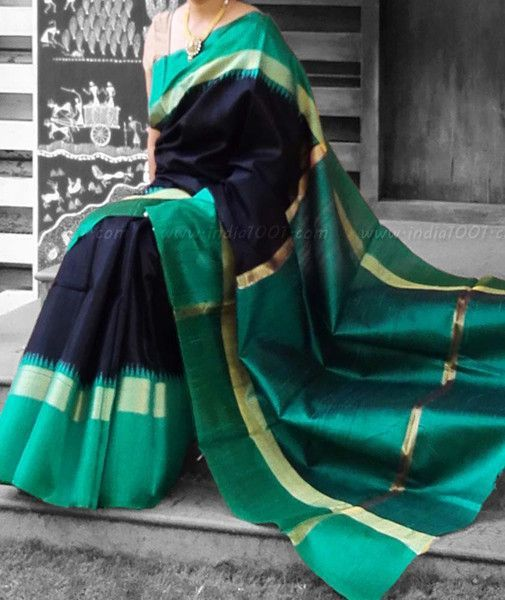 Stunning Dupion Silk Saree with Woven Patterns: