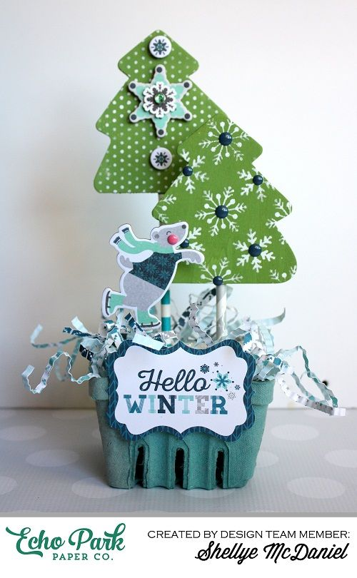Papered Cottage by Shellye McDaniel: Winter Wonderland Berry Basket