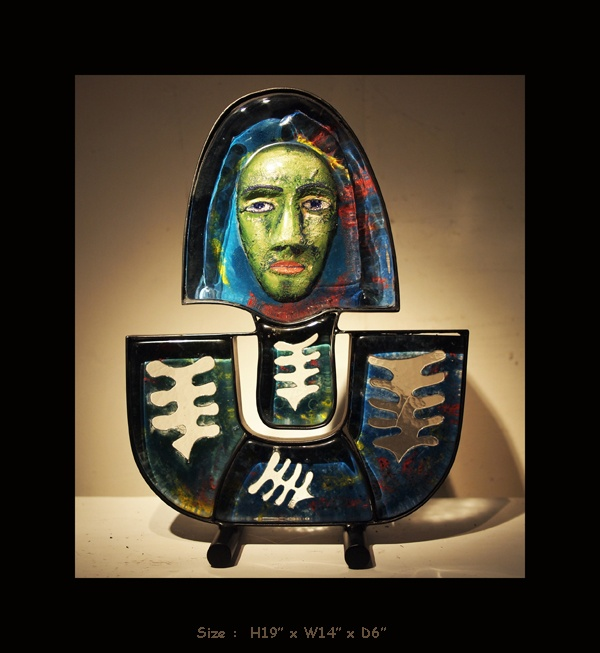 Cast Glass sculpture by Atul Bakshi