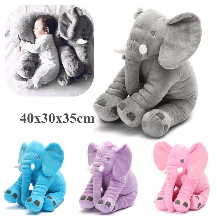 35x40cm Baby Children/Kids Soft Plush Elephant Sleep Pillow Kids Lumbar Cushion  #Unbranded