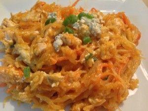 buffalo chicken spaghetti squash, healthy recipe, 24 day challenge recipe