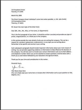 25+ melhores ideias de Business letter layout no Pinterest - sample business letter example