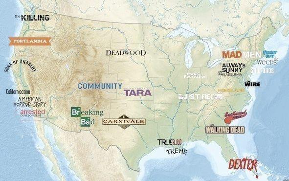 Сериальная карта США
