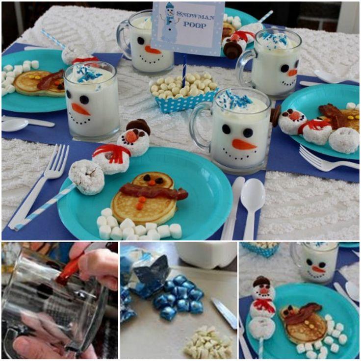 Snowman Christmas Breakfast