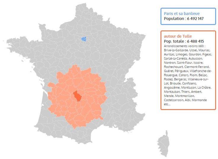 La surpopulation de Paris et de la région parisienne démontrée en une carte interactive