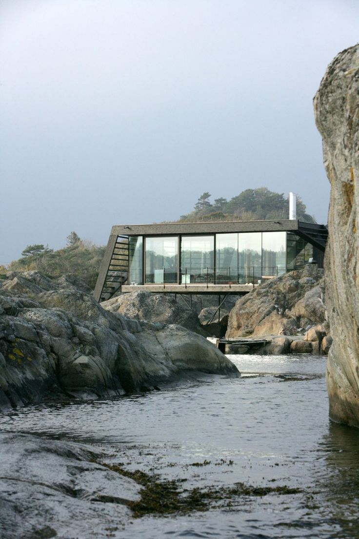 Exterior of main living space - Nature-inspired home Norway