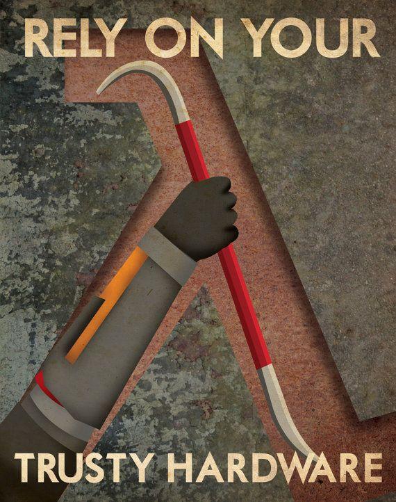 Half Life Propaganda Poster by Justonescarf on Etsy, $12.50