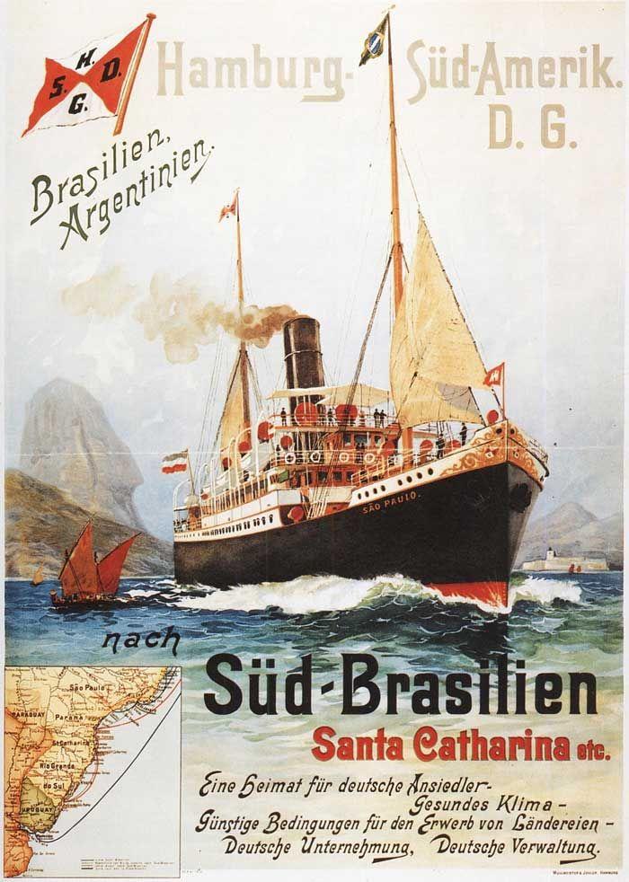 Hamburg-Sud ~ Hamburg-Süd ~ Hamburg-South America Line ~ Hamburg-South American Line