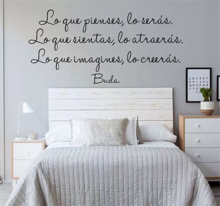las 25 mejores ideas sobre frases de la pared del dormitorio en pinterest signos de. Black Bedroom Furniture Sets. Home Design Ideas