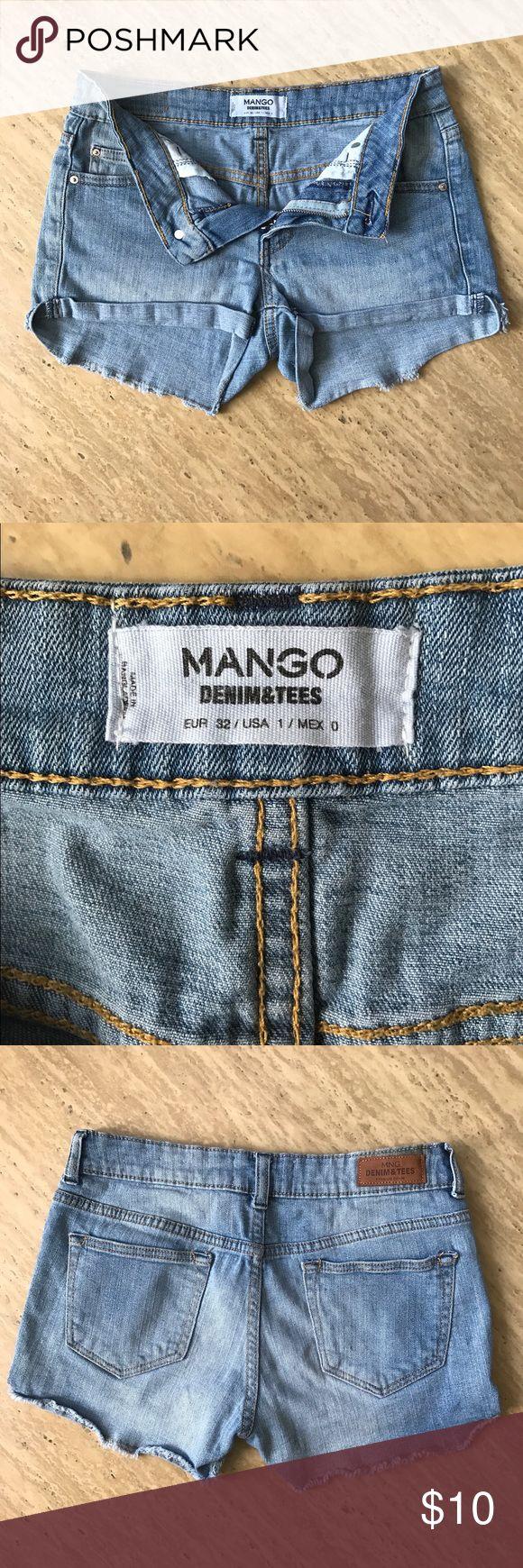 Mango Denim Shorts Mango Denim Shorts Size 1 Mango Shorts Jean Shorts