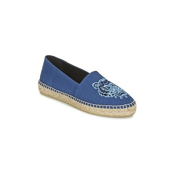 Kenzo TIGER HEAD Espadrilles (1 120 SEK) ❤ liked on Polyvore featuring shoes, sandals, blue, kenzo, kenzo shoes, summer sandals, kenzo sandals and blue sandals