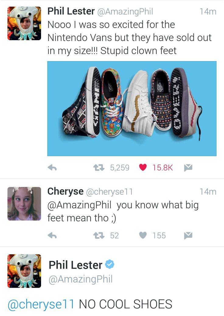 What a saint of Phil ;)<<< he's a cinnamon roll too pure for this world<<< he's also not wrong I can never find shoes for my big feet