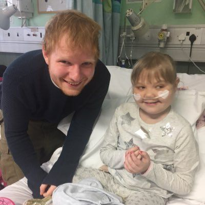 Ed Sheeran surprises 9-year-old superfan in hospital. Wonderful story, Great work Ed!