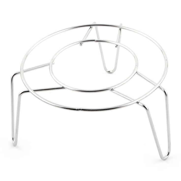Stainless Steel (Silver) Round Shaped Cooking Ware Heating Steaming Rack 12.5cm Diameter