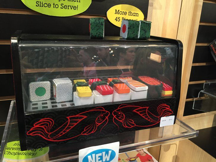 Pin for Later: See All 170+ Brand-New Toys Your Kids Will Be Begging For This Year Melissa and Doug's Roll, Wrap and Slice Sushi Counter Kids can roll and slice their way to sushi heaven with Melissa and Doug's Roll, Wrap and Slice Sushi Counter when it is released later this year.