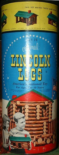 Lincoln Logs - I mean what would a cabin be without a display of the toy that had me building cabins in the first place!