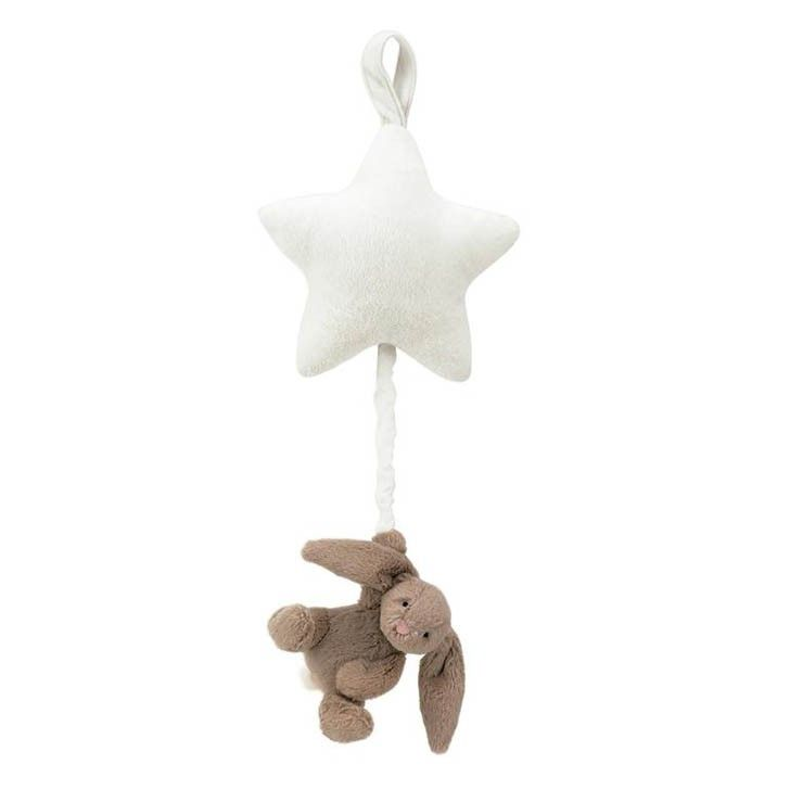 LITTLE JELLYCAT   Bashful Bunny Star Musical Pull - Learning and Playtime - kinderelo.co.za